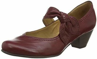 Gabor Henrietta, Women's Mary Jane Shoes Closed-Toe Pumps, Red (Dark Red Leather), (41 EU)