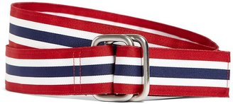 Brooks Brothers Red, White and Blue Striped Ribbon Belt
