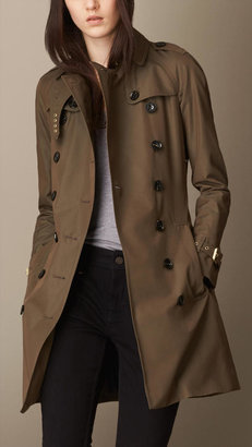 Burberry Mid-length Trench Coat with Check Warmer