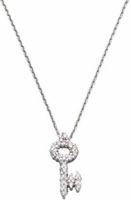 Roberto Coin Tiny Treasures Diamond & 18K White Gold Key Pendant Necklace