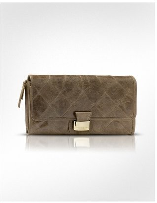 Francesco Biasia Shania - Quilted Calf Leather Flap Clutch Wallet