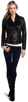 MICHAEL Michael Kors MICHAEL Michae Kors Women's Asymetrical Leather Jacket