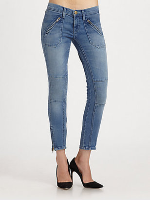 Current/Elliott The Moto Stiletto Skinny Jeans