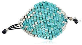 "Kenneth Cole New York ""Beaded Bracelets"" Turquoise Bead Adjustable Friendship Bracelet"