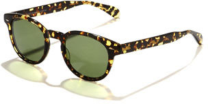 Oliver Peoples Sheldrake Round Plastic Sunglasses