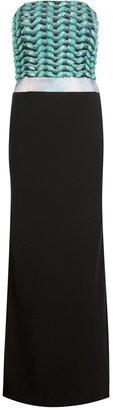 Giorgio Armani beaded bandeau top maxi gown
