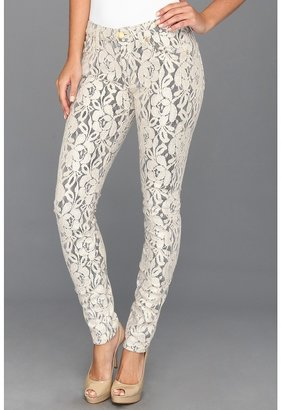 7 For All Mankind The Skinny in Double Knit Lace Orchid (Lace Orchid) - Apparel