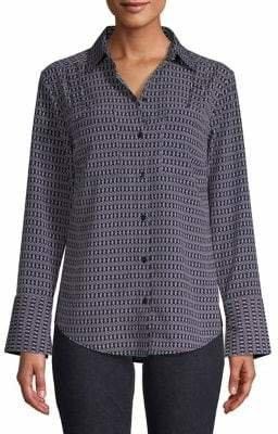 Jones New York Printed Button-Down Shirt