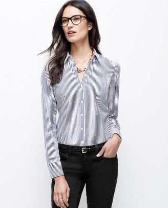 Ann Taylor Wide Stripe Perfect Shirt