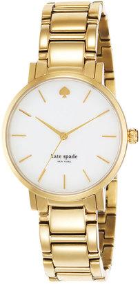 kate spade new york Watch, Women's Gramercy Gold-Tone Bracelet 34mm 1YRU0002 $225 thestylecure.com