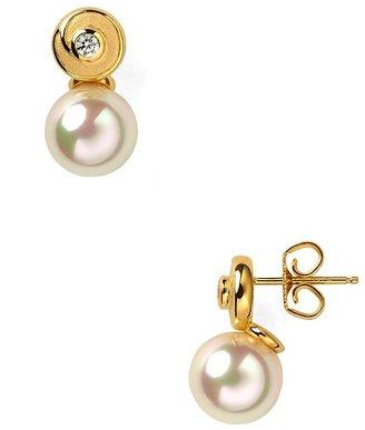 Majorica Round Pearl Earrings