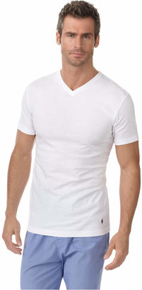 polo ralph lauren men's slim-fit classic cotton v-neck Undershirt 3-pack $39.50 thestylecure.com
