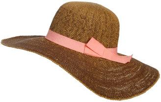Arden B Woven Grosgrain Floppy Hat