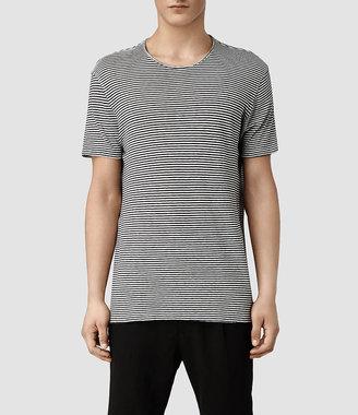 AllSaints Figure Stripe Crew T-shirt