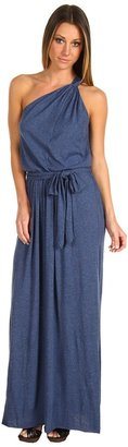 Rebecca Taylor One-Shoulder Maxi Dress (Indigo) - Apparel