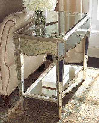 "Horchow ""Bridget"" Mirrored Side Table"