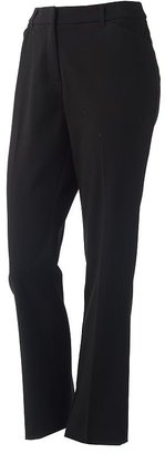 212 Collection Solid Straight-Leg Pants