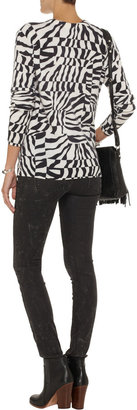 Equipment Shane printed cashmere and silk-blend sweater