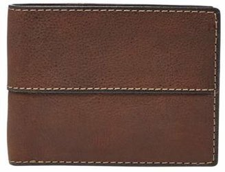 Fossil Ethan International Traveler Wallet Medium Brown