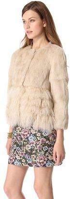 RED Valentino Lapin Fur Jacket