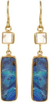 Judy Geib Opal and Moonstone Earrings