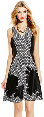 Vince Camuto Contrast Fit and Flare Dress