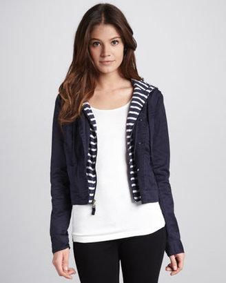 Splendid Bellini Striped Cropped Jacket