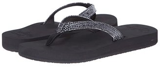 Reef Star Cushion Sassy (Black/Silver) Women's Sandals