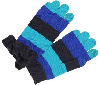 Kate Spade Touch Tech Bow Gloves (Blue Multi) - Accessories