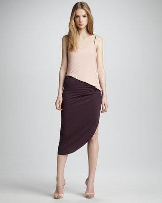 Halston Colorblock Asymmetric Dress