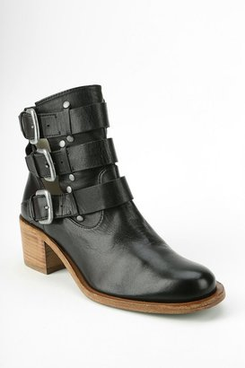 Plomo Tri-Buckle Suede Ankle Boot