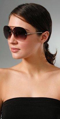DVB Style Sunglasses Semi-Rimless Aviator Sunglasses