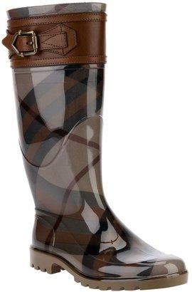 Burberry 'House check' rain boots