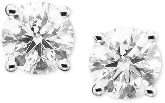 Diamond Stud Earrings in 14k White Gold (2 ct. t.w.)