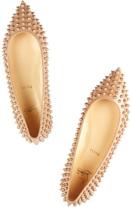 Christian Louboutin Pigalle Spikes patent-leather point-toe flats