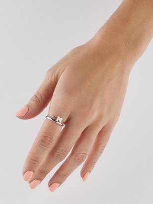 American Apparel Silver Tone ABC Stacking Ring Set
