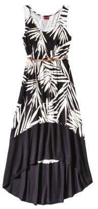 Merona Women's Hi-Lo Hem Maxi Dress w/Belt - Prints