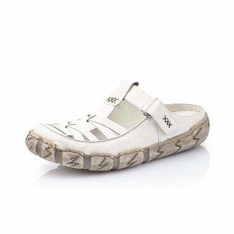 Rieker Women Loafer Flats L0396 Ladies Slipper Slip Half Shoe Slip-on Leisure Shoe Open Slip-in