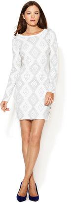 Dolce Vita Arlette Metallic Sweater Dress