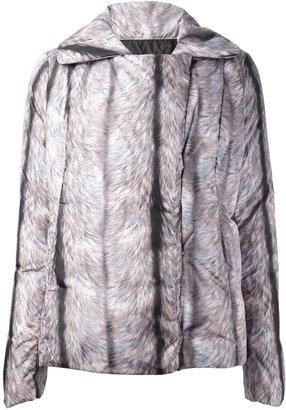Maison Martin Margiela fur print padded jacket