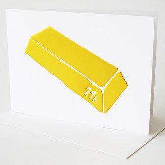 Yellow Owl Workshop 24K Gold Bar Card Set Of 4