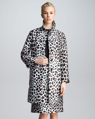 Marc Jacobs Leopard-Print Satin Jacket