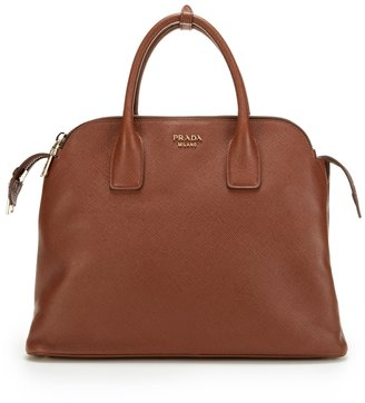 Prada Saffiano Cuir Medium Leather Tote Bag