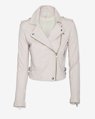 IRO Exclusive Hana Leather Jacket: Pink Rose