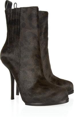 Alexander Wang Leopard-print calf hair ankle boots