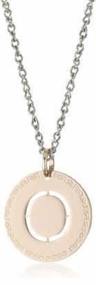 "Rebecca Word"" Rose Gold Over Bronze Letter ""O"" Necklace"