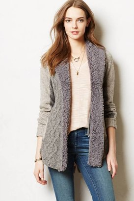 Anthropologie Camel Cable Cardigan