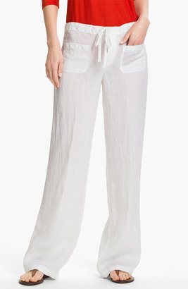 Vince 'Beach' Linen Pants Womens White Size Small Small