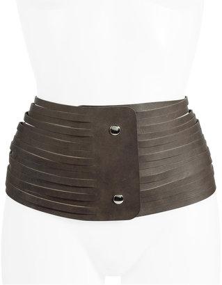 Maison Martin Margiela Vintage Brown Multi Strap Leather Belt