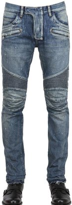 18cm Painted Denim Biker Jeans $1,888 thestylecure.com